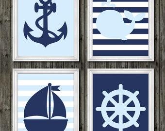 Anchor Nursery Decor, Baby Blue Navy Nursery, Nautical Baby Blue, Nautical  Theme Nursery