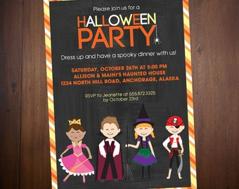 Personalized Child Halloween Digital Party Invitation