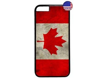 Canadian Flag CANADA Mapel Hard Rubber Slim Case Cover for iPhone X 8 7 6 6s PLUS 5 5s SE 5C 4 4s iPod Touch 4 5 6