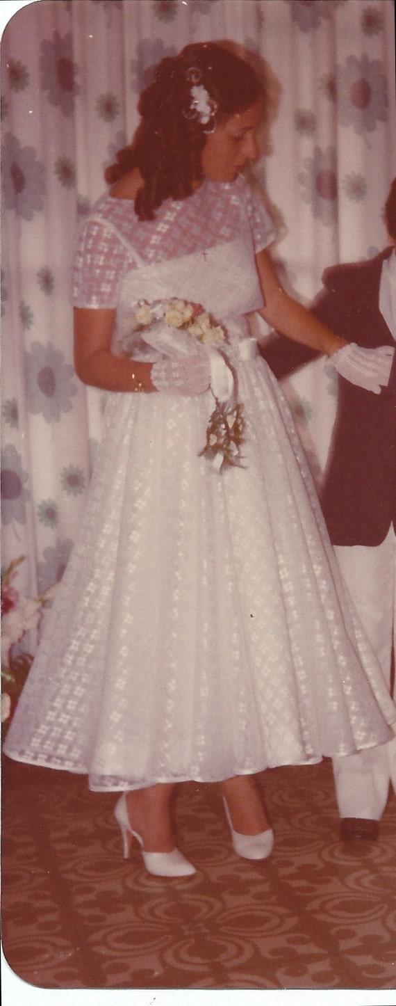 Weiße Hochzeit Kleid / weißen Kleid / Hochzeit Kleid 80er