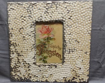 4x6 Tin Ceiling Picture Frame Cream RECLAIMED Shabby 1-18P