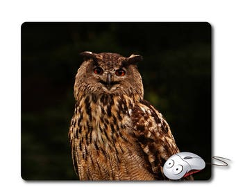 Owl gift mouse pad mouse mat Computer mouse pad Office Computer gift Office desk accessories office decor office supplies office desk pad