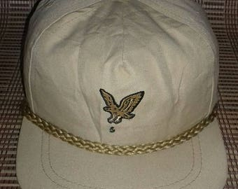 Rare vintage Lyle & Scott cap made in usa metal belt buckle tuck in style 57-60 cm