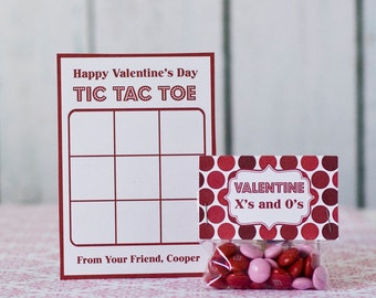 Tic Tac Toe Valentine Card