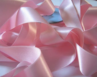 By the yard light pink satin ribbon