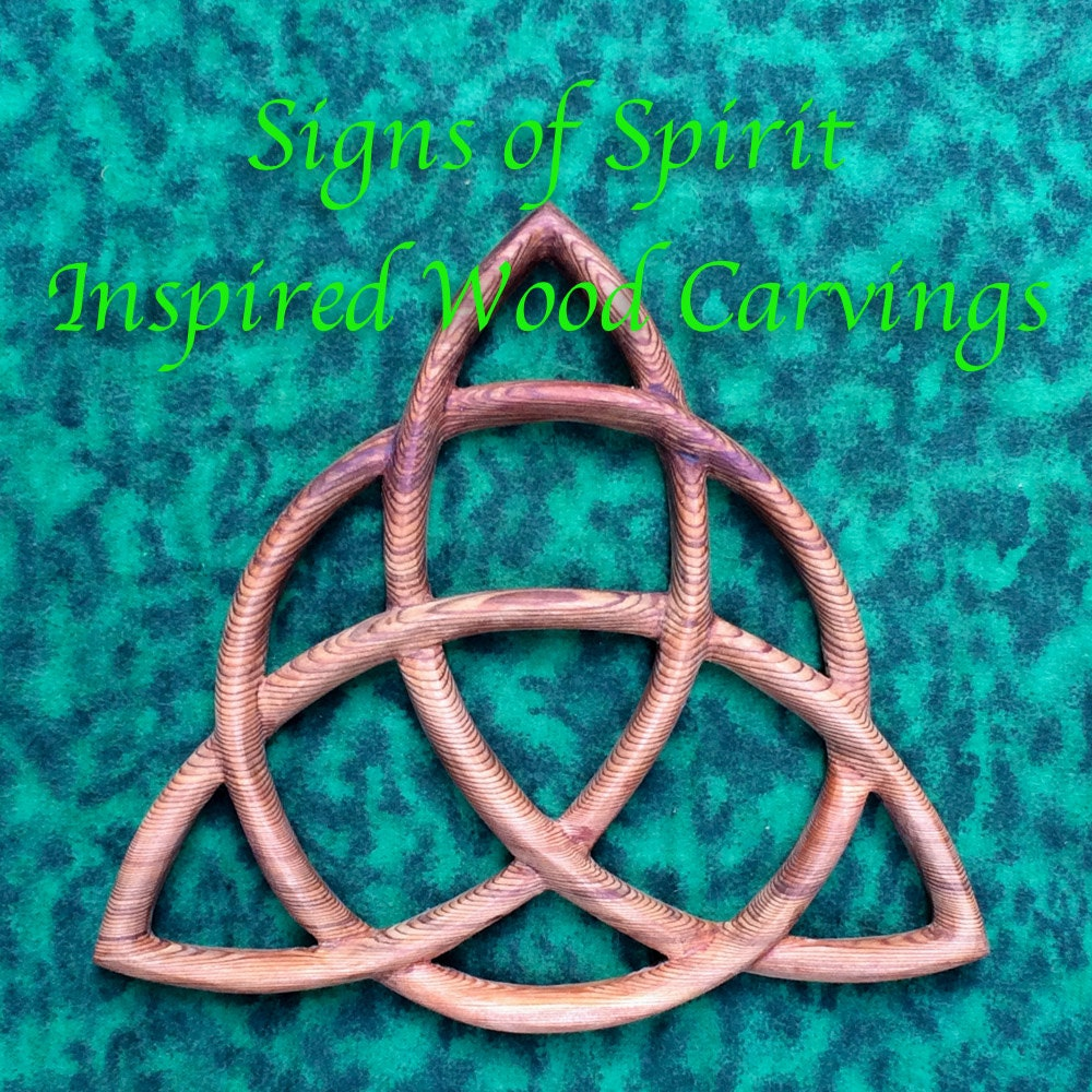 Triquetra wood carved celtic knot celtic triple goddess wiccan zoom buycottarizona Choice Image