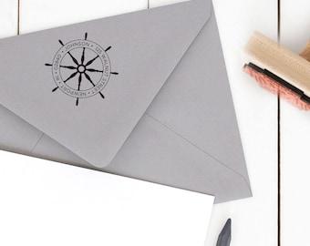 Round Return Address Stamp, Personalized Address Stamp, Family Address Stamp, Wedding Stamp, Custom Address Stamp, Rubber Stamp No. 0002