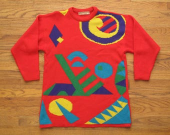 vintage womens geometric sweater