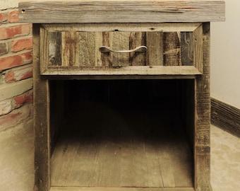 Reclaimed Wood Farmhouse Style Barn wood Night Stand