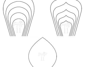 Pdf set of 2 flower templates and 1 leaf template ant set of 2 flower templates and 1 leaf template ant paper flower template mightylinksfo Images