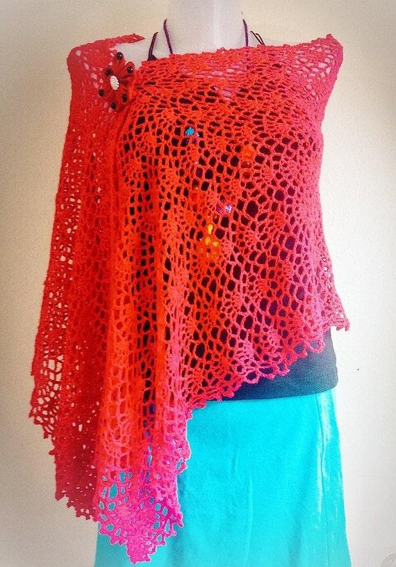 Crochet Pattern Easy Shawl Spring Crochet Pattern Summer Wrap