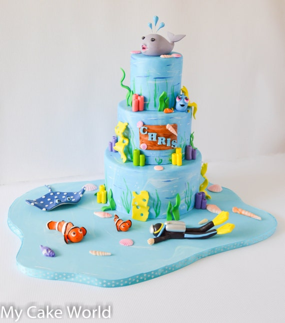 Nemo And Friends Cake Toppers Set Finding Nemo Party
