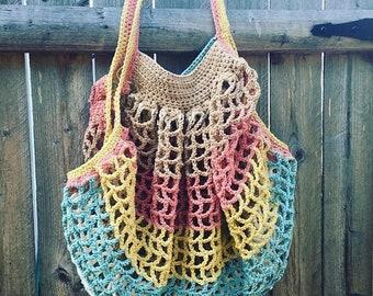 ON SALE Crochet French Market Bag