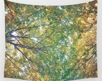 woodland wall tapestry, large size wall art, wall decor, bohemian tapestry, wall hanging, nature, zen, wanderlust