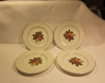 "Set of 4 Enoch Wedgwood (Tunstall) 5.5"" bread plates - English Harvest"