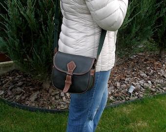 Leather bag, leather purse,  green leather bag, cross body bag, messenger bag, womens leather bag, leather shoulder bag, bag for womens