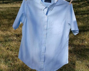 Vintage Lady Van Heusen short sleeve oxford shirt 14