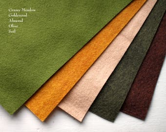 Wool Felt Pack - Earth Tones