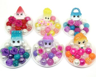 6 Shopkins Unicorn Fan Club bracelet kits including Exclusive Twinkle Cupcake - Shopkins birthday party favors
