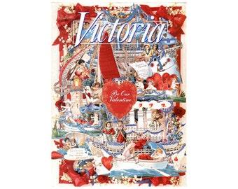 1995 la Saint Victoria Magazine, Magazine de Victoria, Vintage victorien NewYorkMarketplace collection Victoria Magazine, Magazine de la Saint-Valentin,