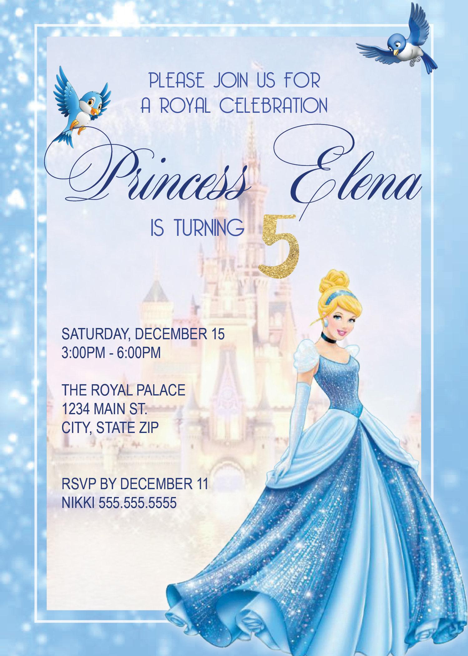 DIGITAL Cinderella Birthday Party Invitation