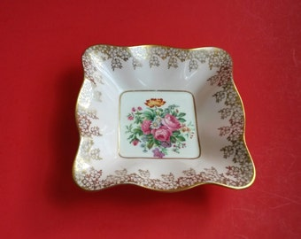 Vintage bone china candy dish, vintage nut dish, Foley bone china, retro candy dish, fluted candy dish