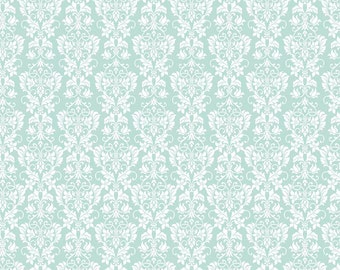 Rustic Damask in Mint Cotton Fabric from the Rustic Elegance Collection by Carta Bella for Riley Blake