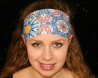 Psychedelic Headband, Yoga Headband, Running Headband, Workout Headband, Fitness Headband, Wide Headband, Boho Headband, Womens Headband