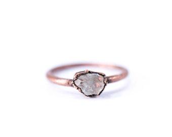 Raw Topaz ring | Topaz crystal ring | Utah Topaz Ring | Raw Topaz crystal ring | Topaz and Copper Ring