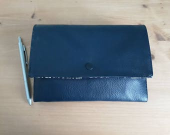 Wallet imitation leather and cotton fabric