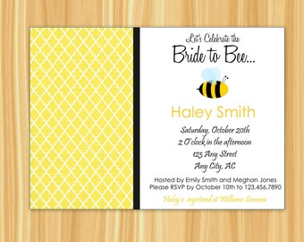 Bee Bridal Shower Invitation | Bee Invitation | Bride to BEE | Bumbe Bee | Bride to Bee Party | Bridal Shower