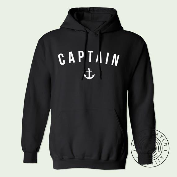 Captain unisex fit hoodie hooded sweatshirt K0040 EQNnfxE