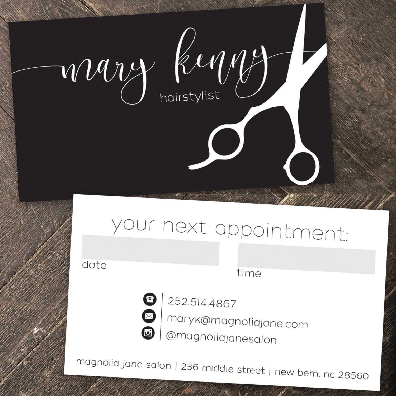 Modern Custom Hair Stylist Business Cards PROFESSIONALLY