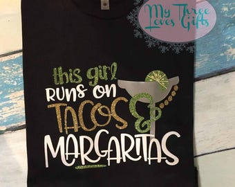 Tacos and Margaritas shirt, Taco shirt, Margarita shirt, Taco Tuesday, Cinco de Mayo, Margarita Day, For her, Glitter, tank, plus, taco life