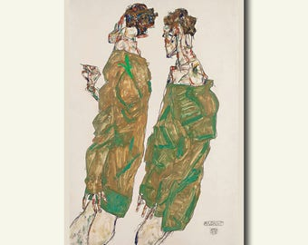Egon Schiele Print Devotion 1913 - Fine Art Print Giclee Prints Schiele Poster Reproduction Schiele Wall Art