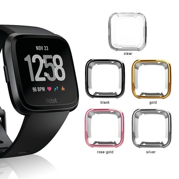 Versa Watch Cover - available colors Silver, Gold, Rose Gold and Black