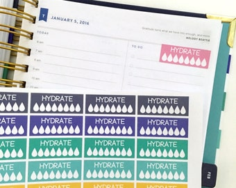 Hydrate stickers for Simplified Planner and other planners