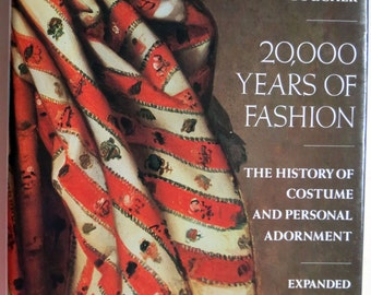 20,000 Years of Fashion Hardcover Book by Francois Boucher Expanded 1987 Edition Costumer Reference Book.