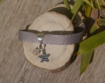 Ribbon charm bracelet