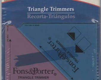 Fons & Porter Triangle Trimmers non-slip Plastic triangle templates - New
