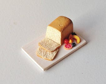 Miniature Cake with Fruits | 1:12 Scale Miniature Food