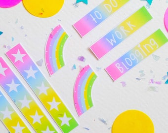 Rainbow Planner Stickers | Bullet Journal | Blogger planner | Stationery