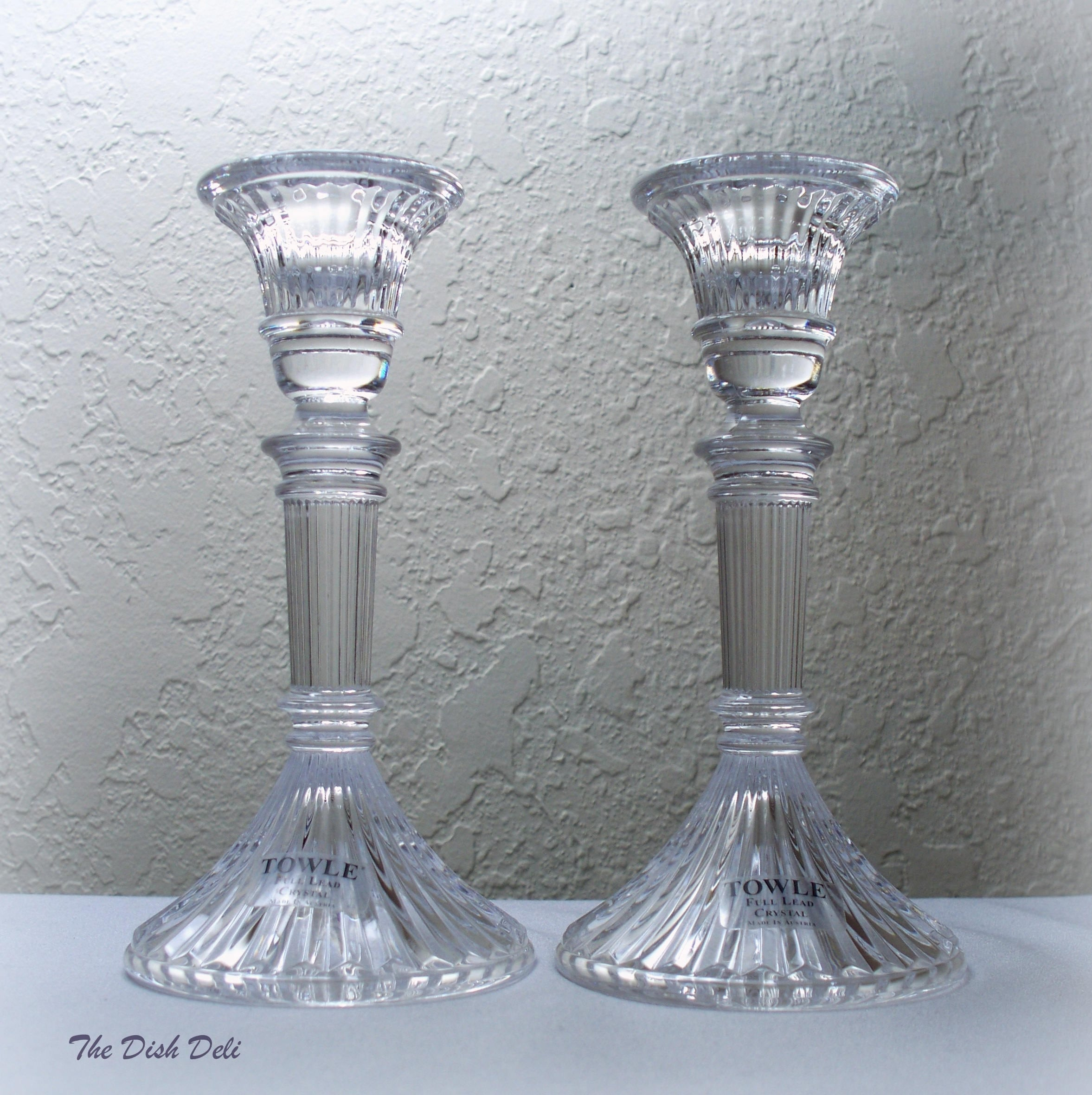 Towle crystal candle taper holders lead crystal vintage description these towle candlestick holders are lead crystal floridaeventfo Image collections