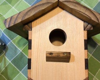 Boxy Long V Shaped Birdhouse