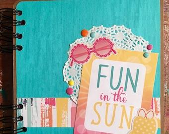 Mini Album, Scrapbook, Journal, Summer Mini Album