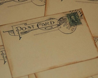 Wedding Guestbook Alternative - Vintage Post Cards -  Wedding Escort or Wedding Table Placecards - Wedding Wishes- 50