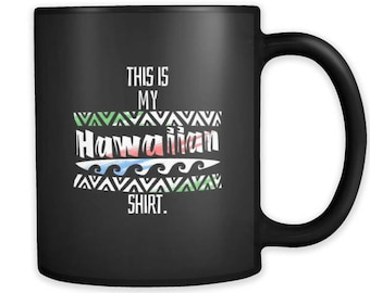 This is My Hawaiian Tropical Beach Black 11oz Mug
