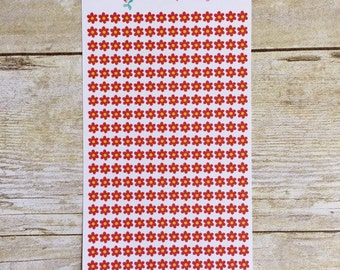Red Flower Period Tracker Mini Stickers For Planners Reminders Trackers M15