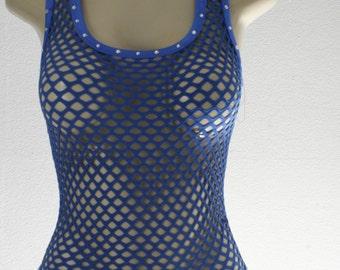 Exotic Dancewear Royal Blue one piece