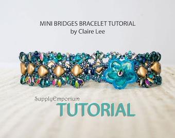 Mini Bridges Bracelet and Bridges Bracelet, Tutorials by Claire Lee, Silky Bead & SuperDuo Bracelet Tutorial, Bridges and Mini Bridges
